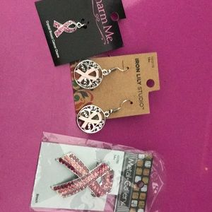 Set of beautiful & NEW Breast cancer jewelry